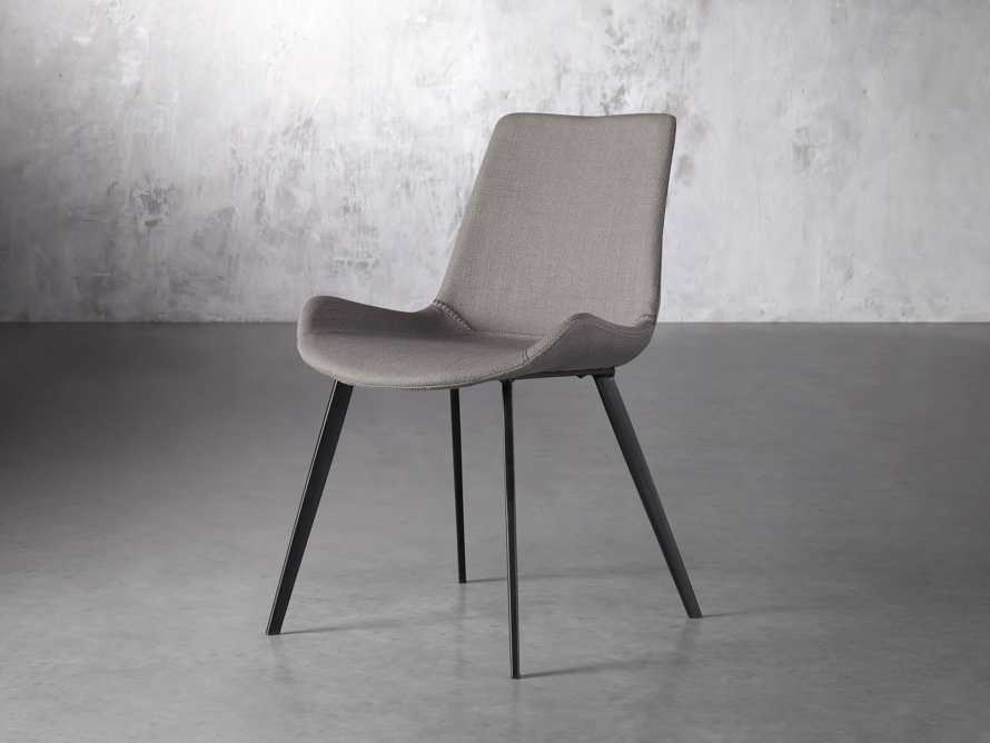 Gage Upholstered Dining Side Chair in Khaki, slide 2 of 7