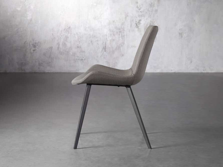 Gage Upholstered Dining Side Chair in Khaki, slide 3 of 7