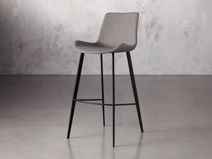 Gage Upholstered Barstool in Khaki, slide 2 of 6