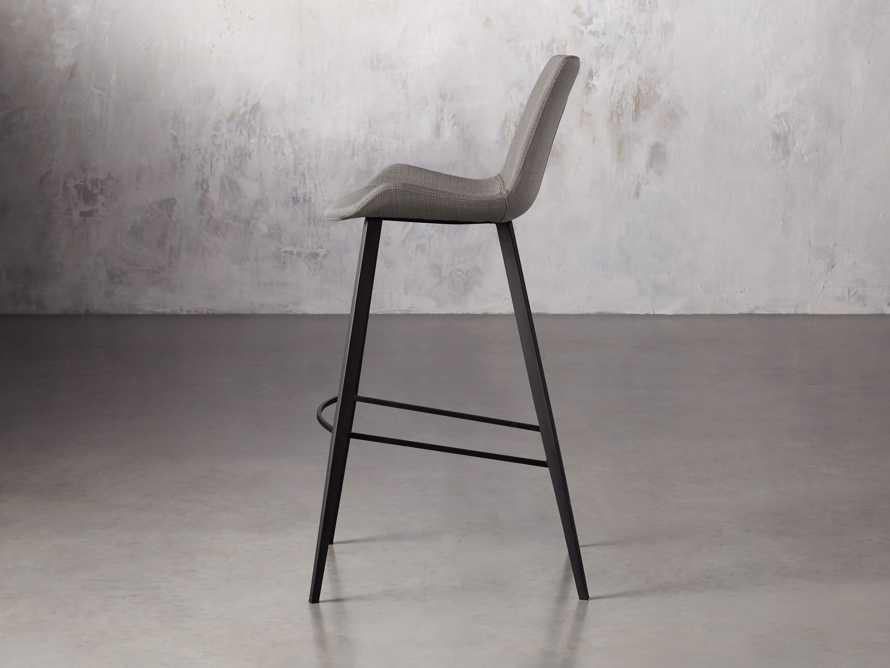 Gage Upholstered Barstool in Khaki, slide 3 of 6