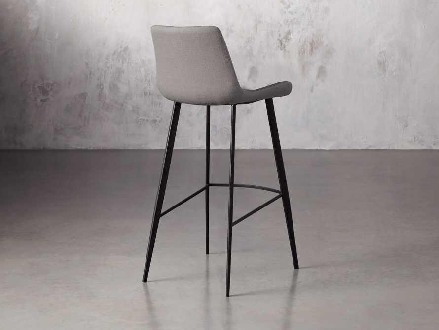 Gage Upholstered Barstool in Khaki, slide 4 of 6