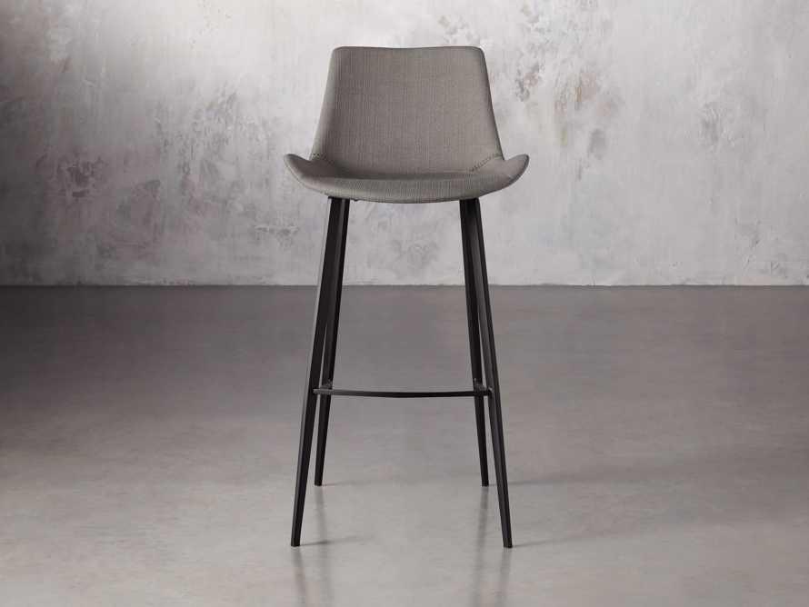 Gage Upholstered Barstool in Khaki, slide 1 of 6