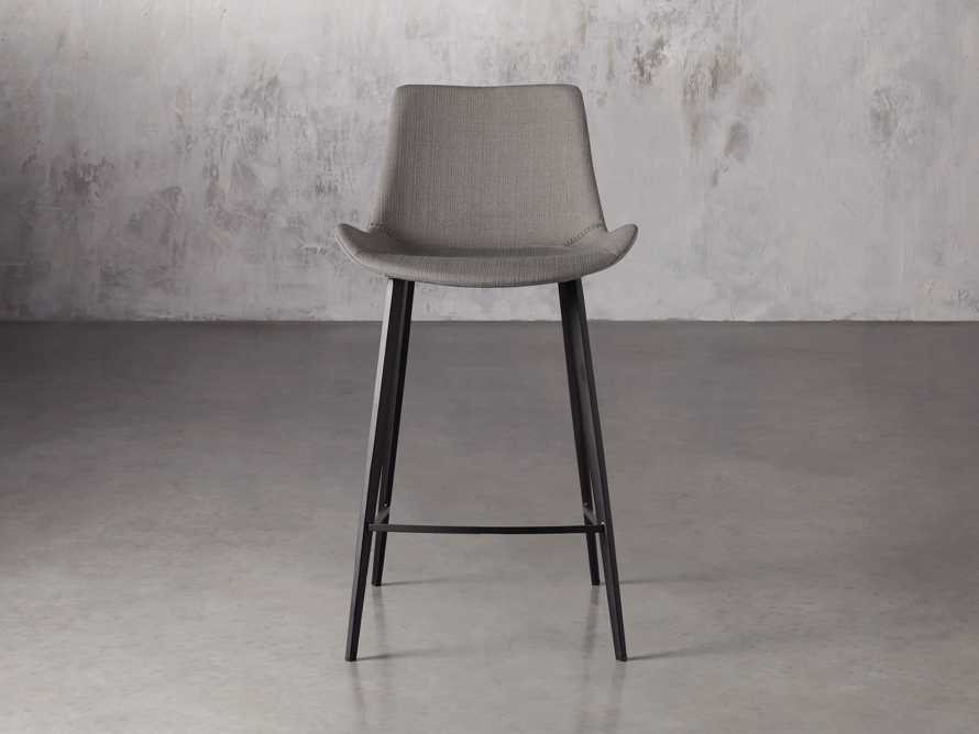 Gage Upholstered Counter Stool in Khaki, slide 1 of 5