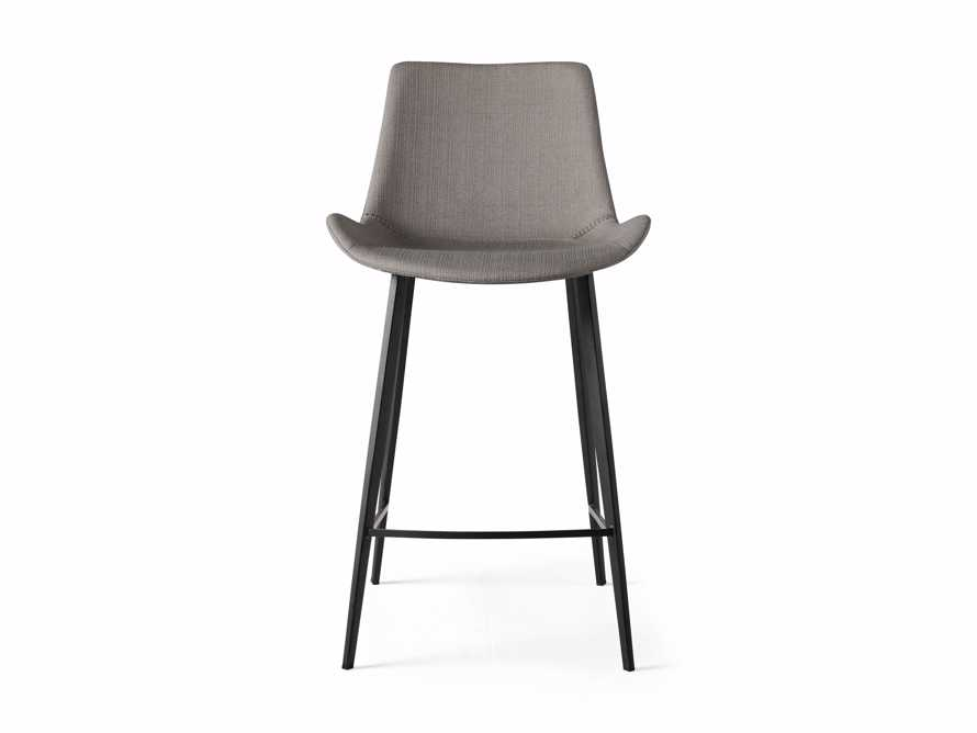 Gage Upholstered Counter Stool in Khaki, slide 4 of 5