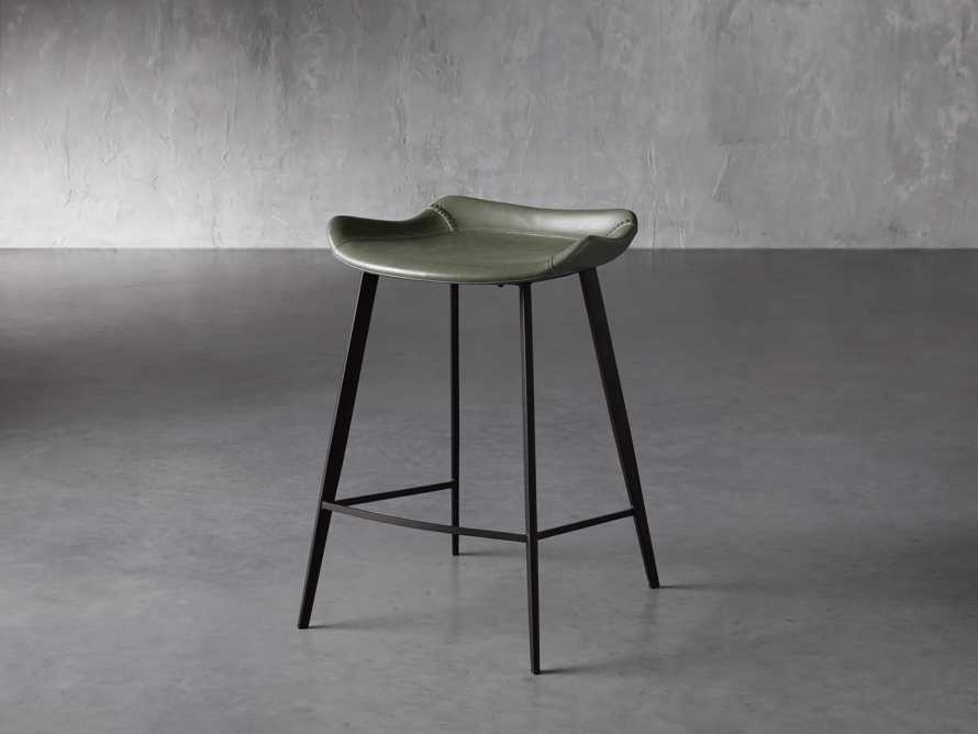 Gage Backless Counter Stool in Pine, slide 2 of 7