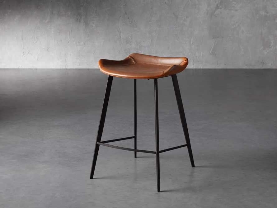 Gage Backless Counter Stool in Tanner, slide 2 of 7