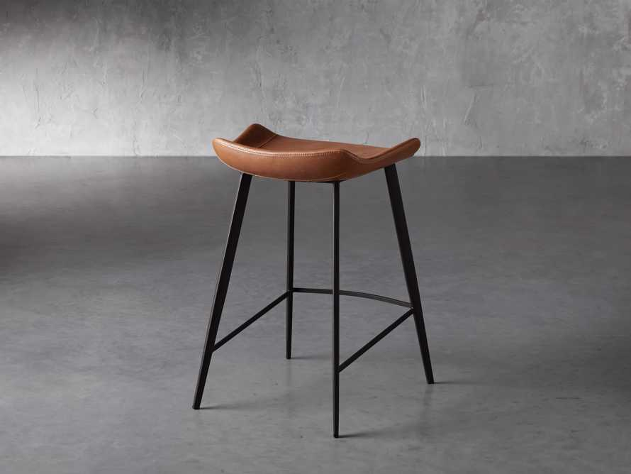 Gage Backless Counter Stool in Tanner, slide 4 of 7