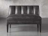 """Gates Upholstered 42"""" Bench in Norre Steel"""