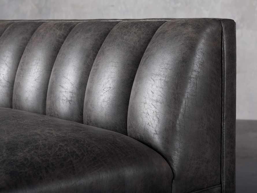 "Gates Upholstered 80"" Settee in Norre Steel, slide 5 of 7"