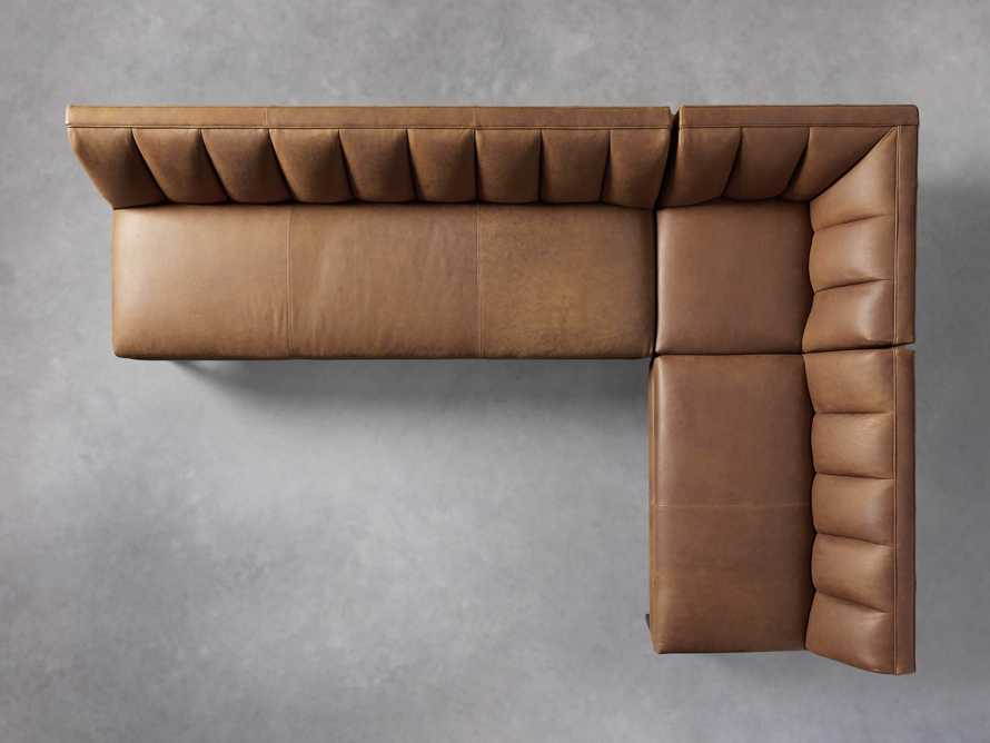 """Gates Leather 119"""" Banquette in Lukas Pecan, slide 5 of 7"""