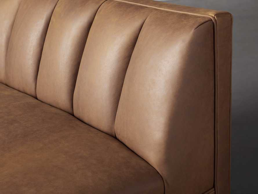 """Gates Leather 119"""" Banquette in Lukas Pecan, slide 4 of 7"""