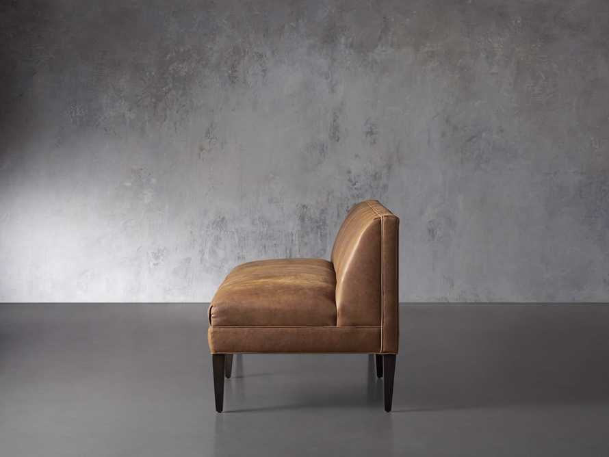 """Gates Leather 78"""" Settee in Lukas Pecan, slide 3 of 8"""