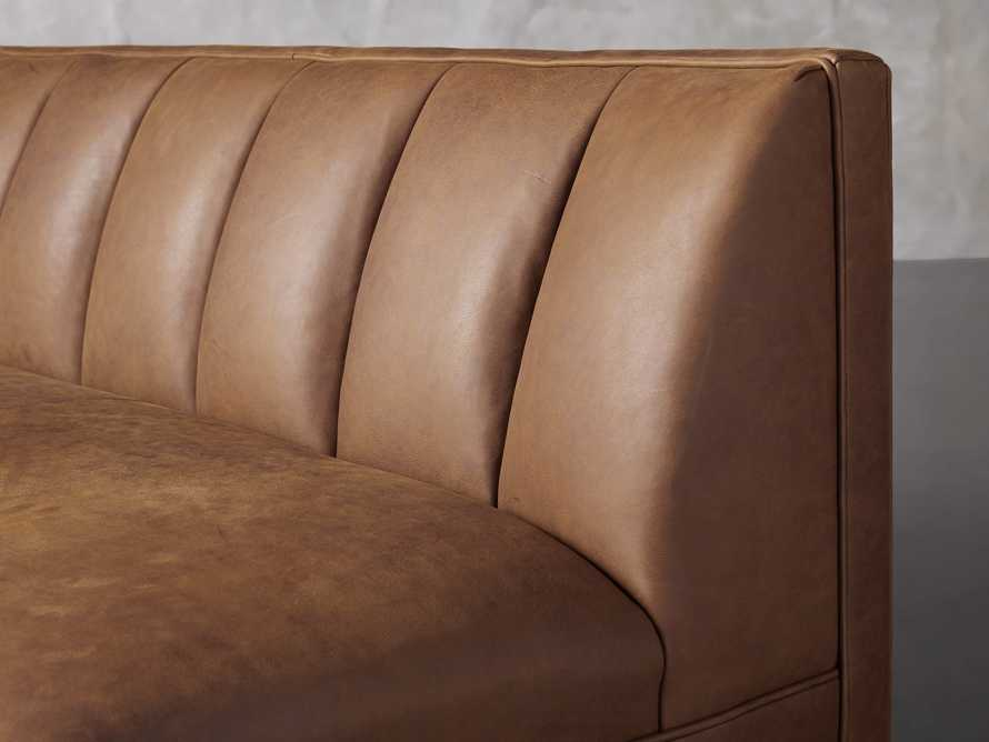 """Gates Leather 78"""" Settee in Lukas Pecan, slide 6 of 8"""