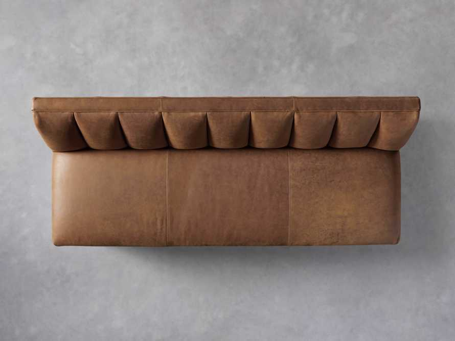 """Gates Leather 78"""" Settee in Lukas Pecan, slide 5 of 8"""