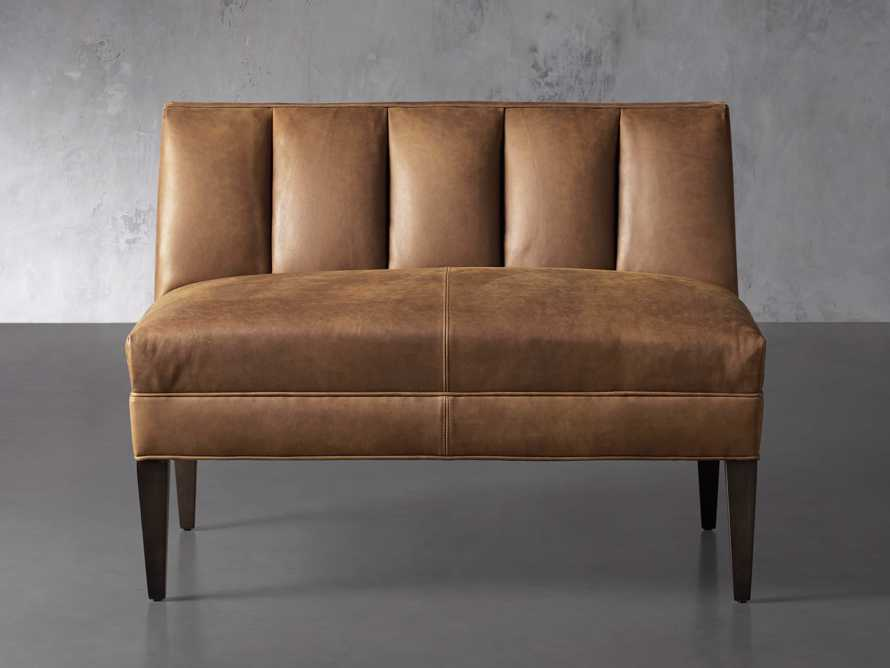 """Gates Leather 43"""" Bench in Lukas Pecan, slide 1 of 8"""