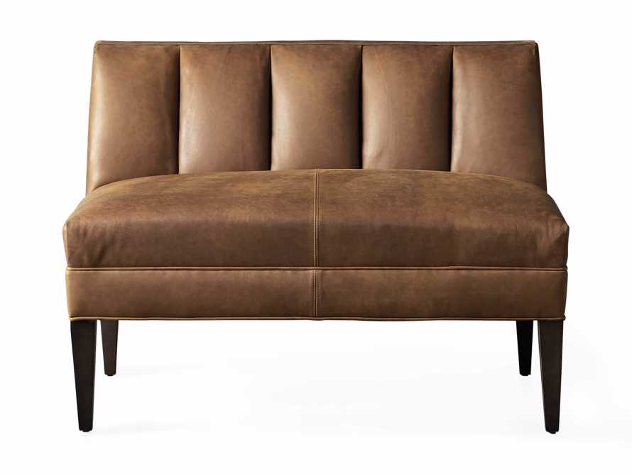 """Gates Leather 43"""" Bench in Lukas Pecan, slide 7 of 8"""