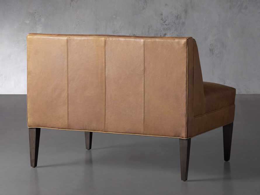 """Gates Leather 43"""" Bench in Lukas Pecan, slide 4 of 8"""