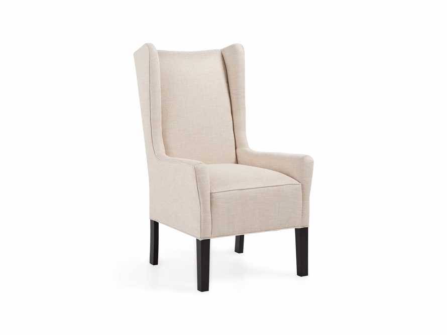 "Halstead Upholstered 22"" Dining Arm Chair in Woodstock Natural"