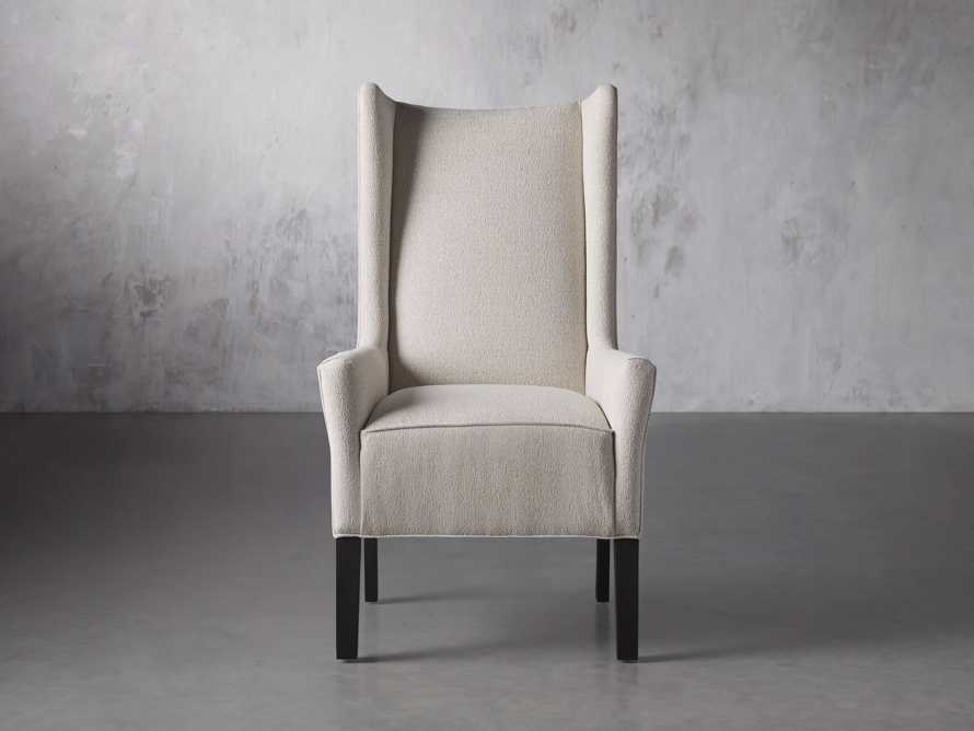 Halstead Dining Arm Chair in Cushing Frost and Black, slide 1 of 9