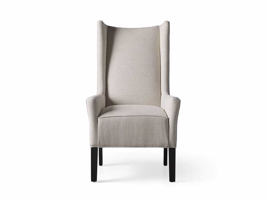 Halstead Dining Arm Chair in Cushing Frost and Black, slide 8 of 9