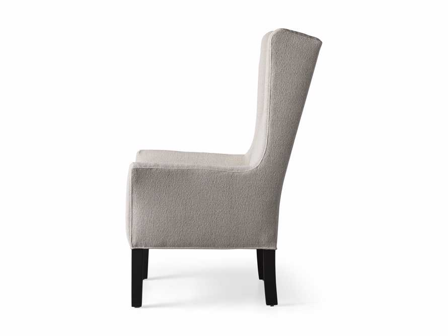 Halstead Dining Arm Chair in Cushing Frost and Black, slide 9 of 9
