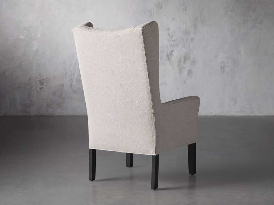 Halstead Dining Arm Chair in Cushing Frost and Black, slide 4 of 9