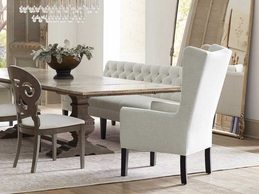 Halstead Dining Arm Chair in Cushing Frost and Black, slide 6 of 9