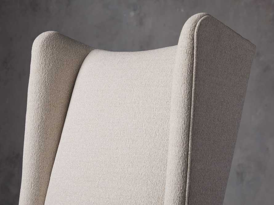Halstead Dining Arm Chair in Cushing Frost and Black, slide 5 of 9