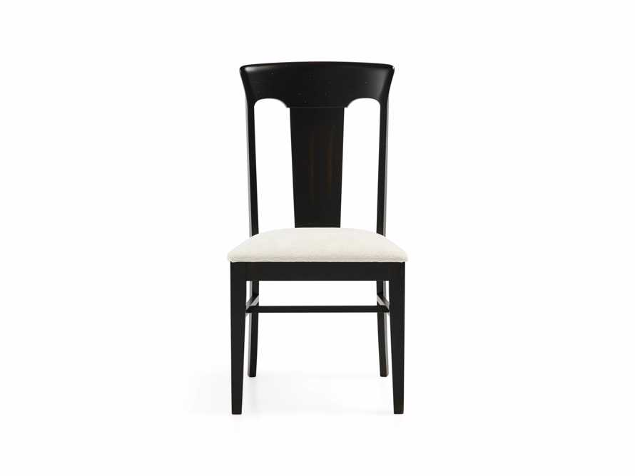 Holmes Dining Side Chair With Upholstered Seat In Aged Black, slide 3 of 8