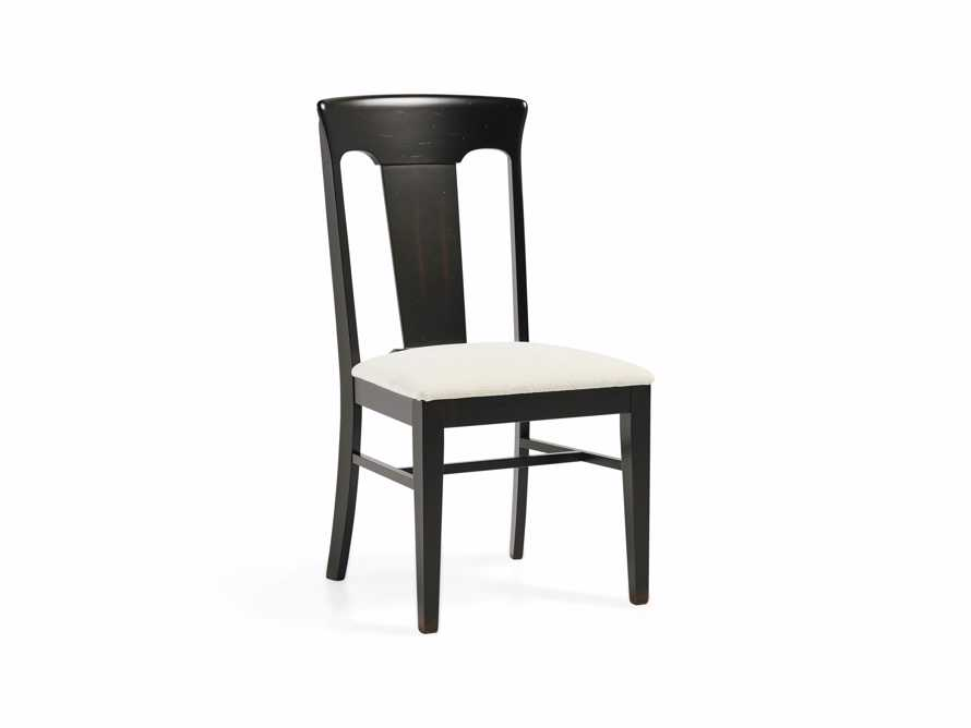 Holmes Dining Side Chair With Upholstered Seat In Aged Black, slide 4 of 8