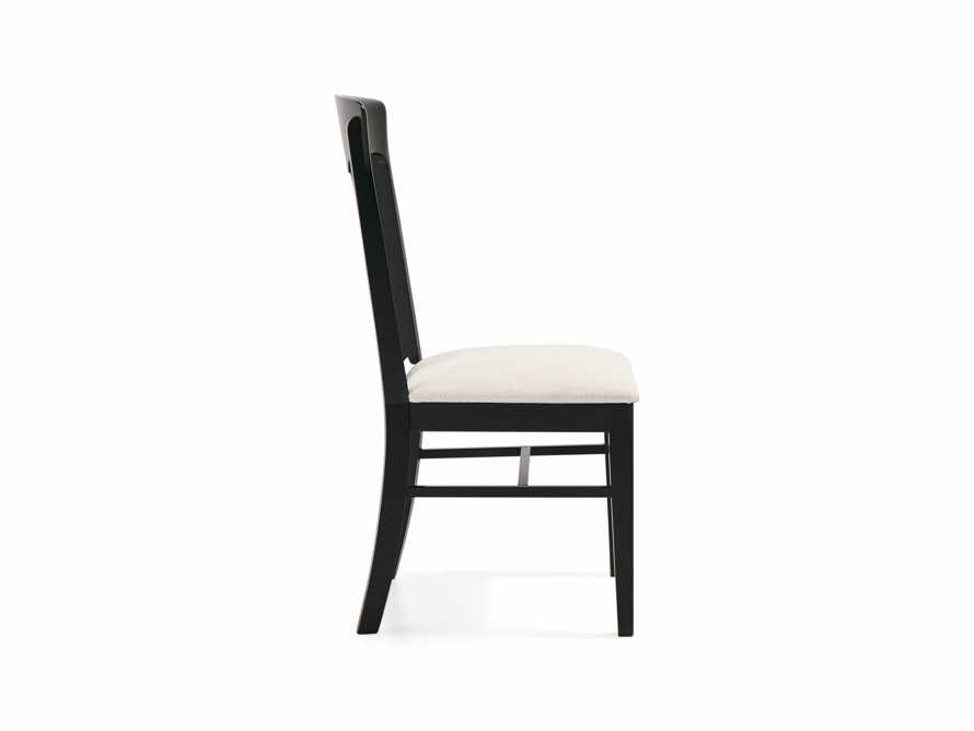 Holmes Dining Side Chair With Upholstered Seat In Aged Black, slide 5 of 8