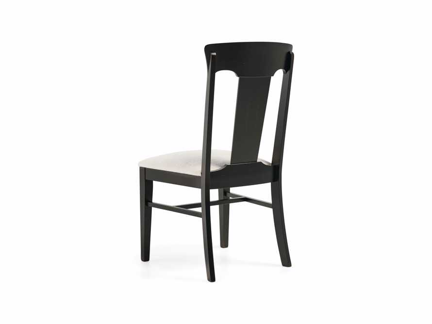 Holmes Dining Side Chair With Upholstered Seat In Aged Black, slide 6 of 8