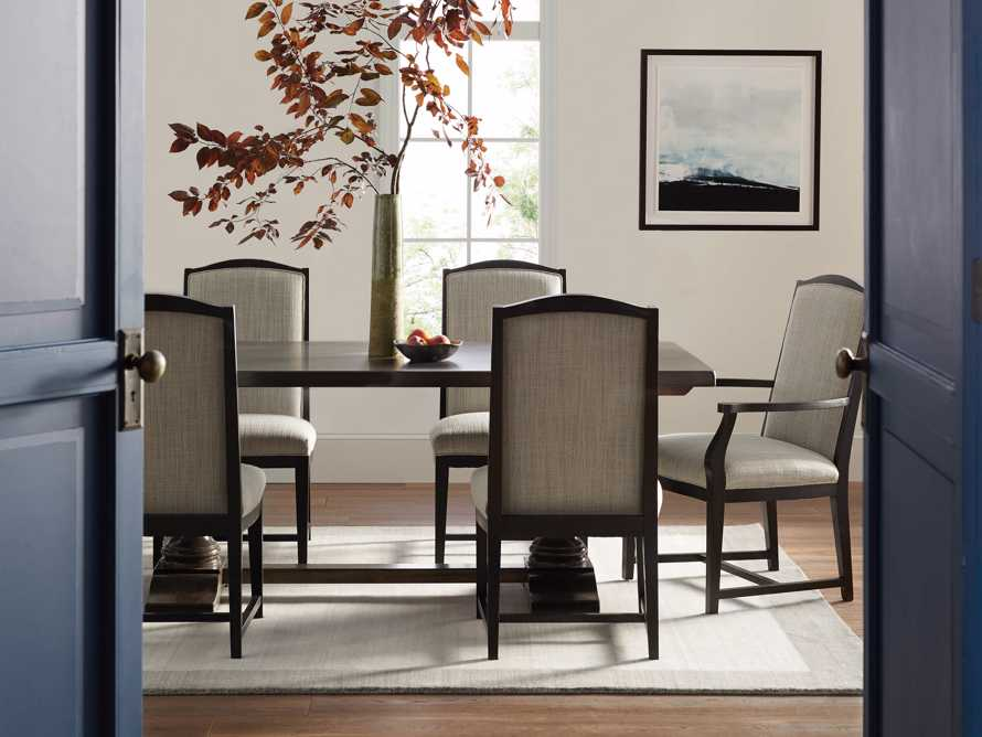 Isabella Dining Arm Chair in Tundra Stone and Nero, slide 11 of 13