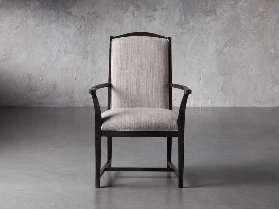 Isabella Dining Arm Chair in Tundra Stone and Nero, slide 2 of 13