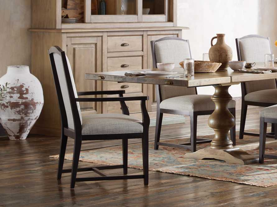 Isabella Dining Arm Chair in Tundra Stone and Nero, slide 1 of 13