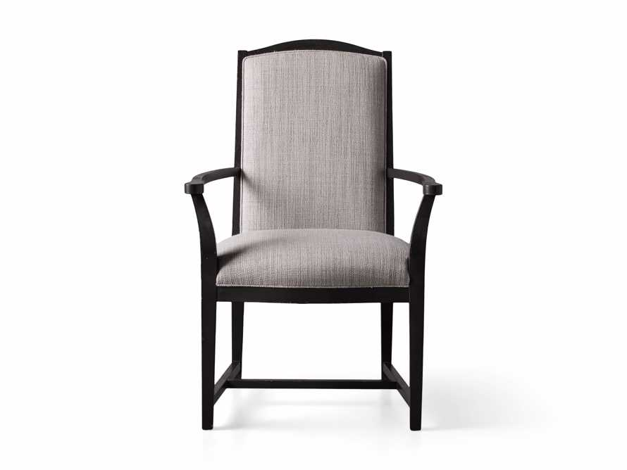 Isabella Dining Arm Chair in Tundra Stone and Nero, slide 12 of 13