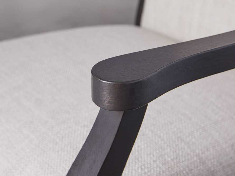 Isabella Dining Arm Chair in Tundra Stone and Nero, slide 8 of 13