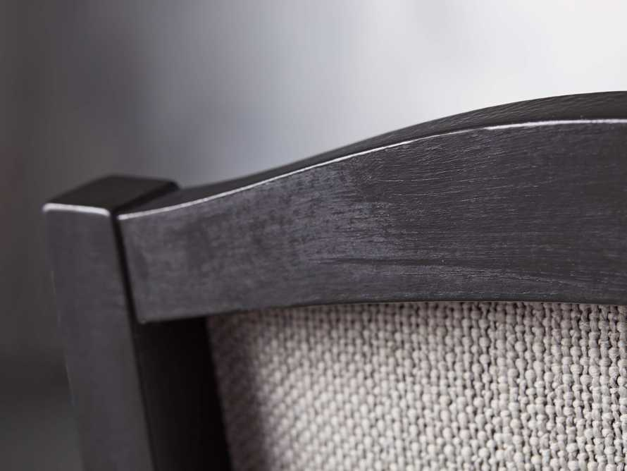 Isabella Dining Arm Chair in Tundra Stone and Nero, slide 7 of 13