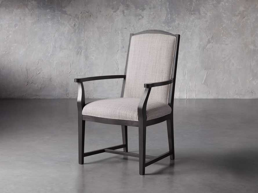 Isabella Dining Arm Chair in Tundra Stone and Nero, slide 3 of 13