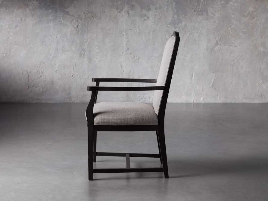 Isabella Dining Arm Chair in Tundra Stone and Nero, slide 4 of 13