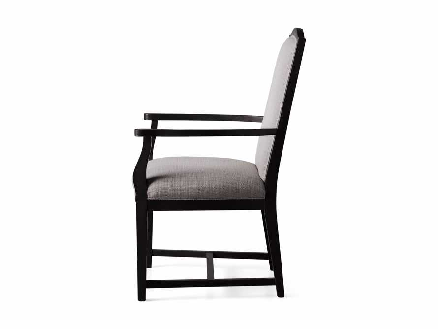 Isabella Dining Arm Chair in Tundra Stone and Nero, slide 13 of 13