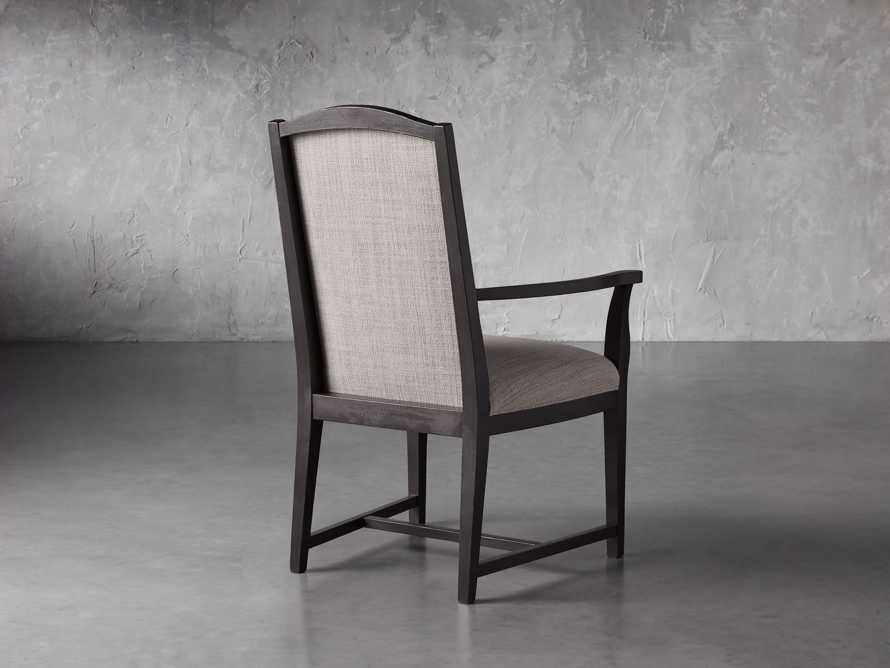 Isabella Dining Arm Chair in Tundra Stone and Nero, slide 5 of 13