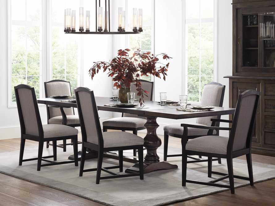 Isabella Dining Arm Chair in Tundra Stone and Nero, slide 10 of 13