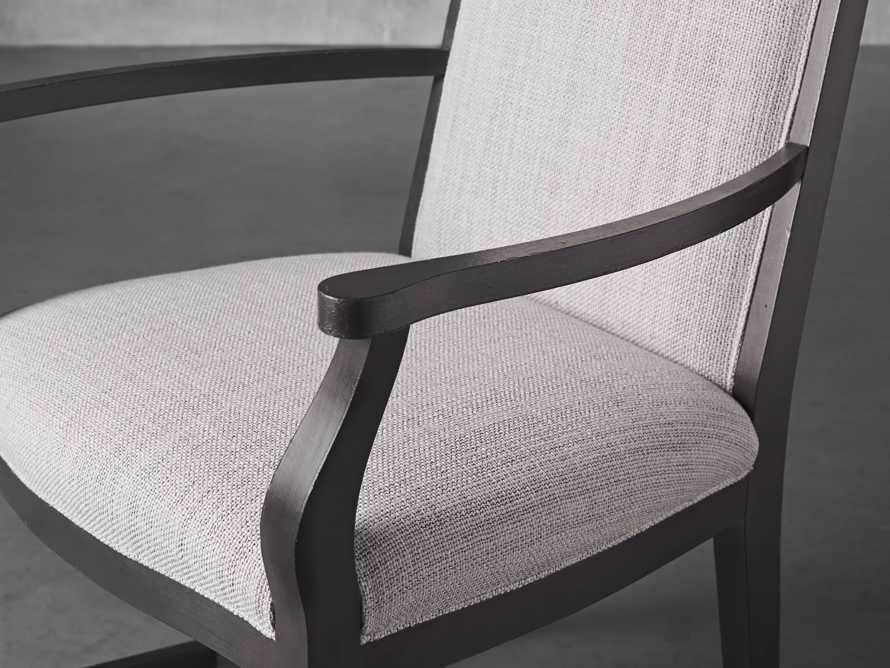 Isabella Dining Arm Chair in Tundra Stone and Nero, slide 6 of 13