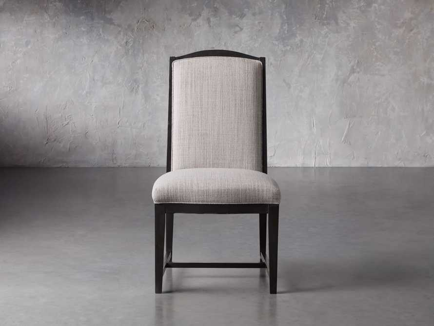 Isabella Dining Side Chair in Tundra Stone and Nero, slide 2 of 11