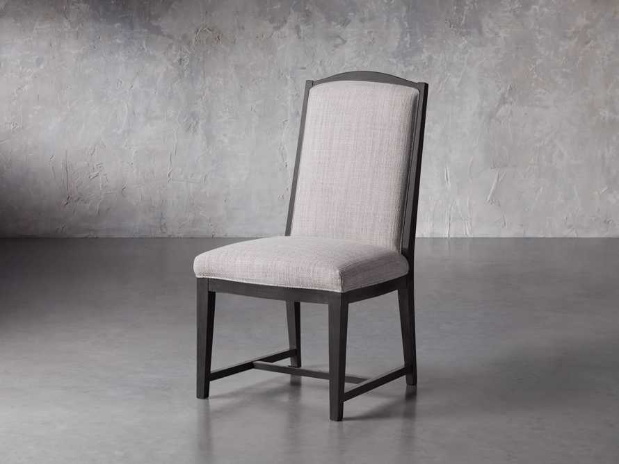 Isabella Dining Side Chair in Tundra Stone and Nero, slide 3 of 11