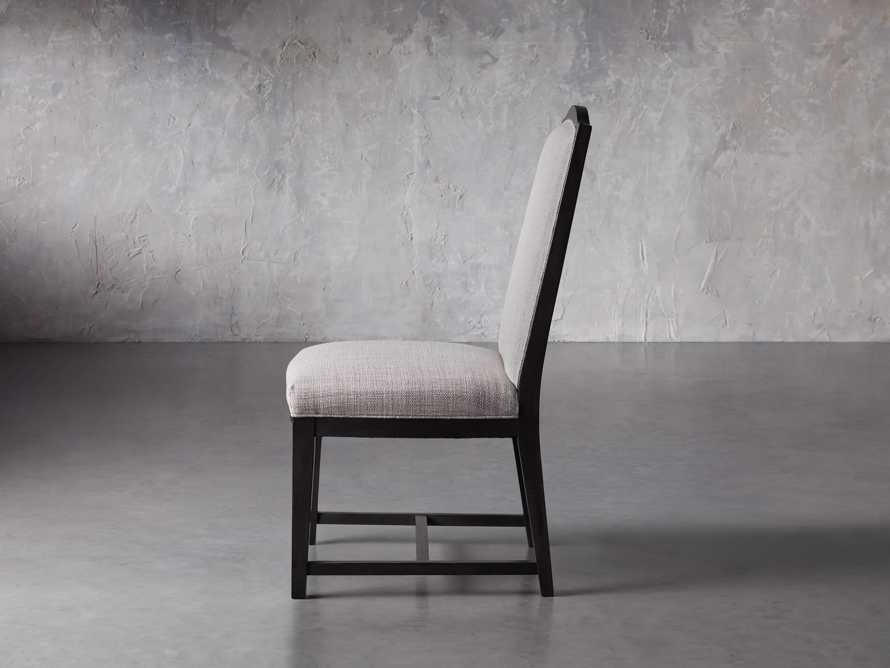 Isabella Dining Side Chair in Tundra Stone and Nero, slide 4 of 11