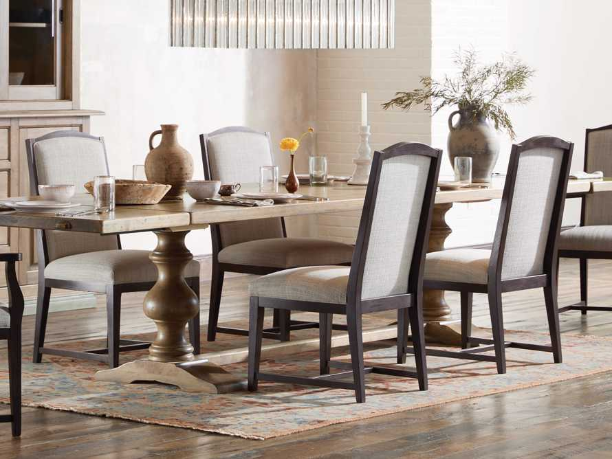 Isabella Dining Side Chair in Tundra Stone and Nero, slide 1 of 11