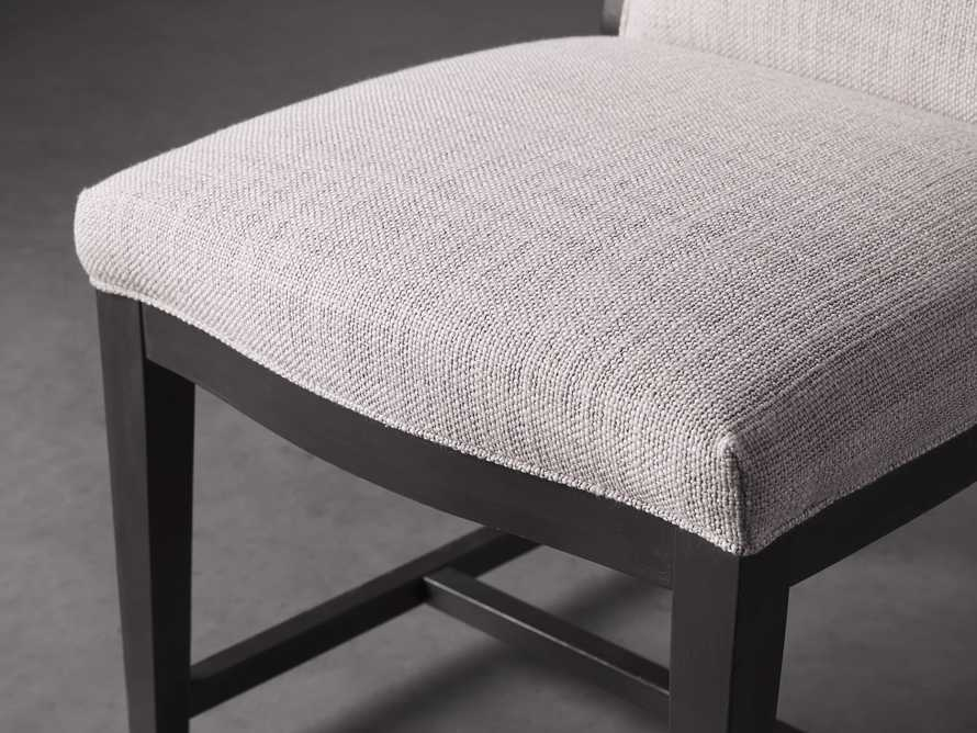 Isabella Dining Side Chair in Tundra Stone and Nero, slide 6 of 11