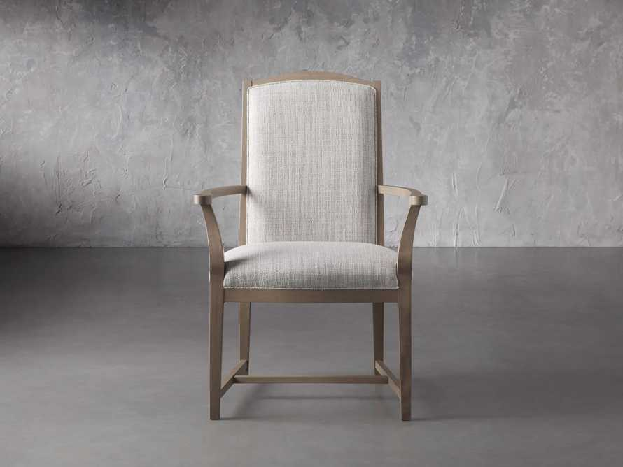 """Isabella 24""""Antique Blonde Dining Arm Chair in Tundra Cream, slide 1 of 7"""